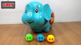 Đồ chơi Chú Voi biết đẻ con và hát nhạc dễ thương - Elephant automatic lay mini baby toy for kids