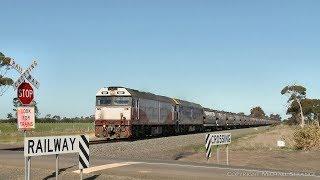 QUBE Broad Gauge Grain Train With G Class Diesel Locomotives - PoathTV Australian Railways
