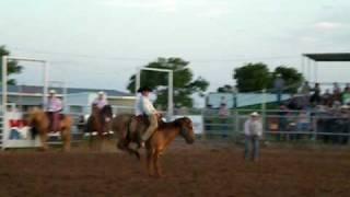 Jeremy Allen, bronc ride, XIT rodeo Dalhart tx 8/7/09