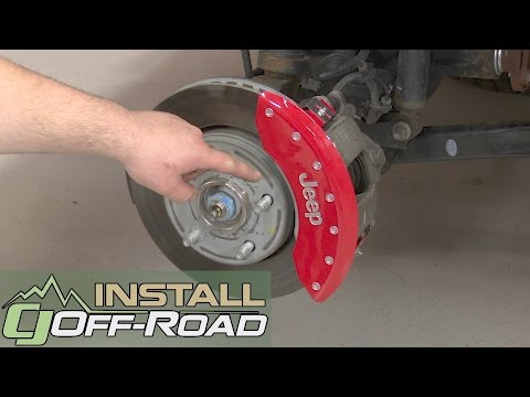 Jeep Wrangler MGP Brake Caliper Cover Set Red With Silver Jeep Logo 2007-2017 Installation