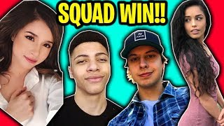 SQUAD WIN ft. TSM MYTH, POKIMANE, & VALKYRAE!!! (Cizzorz Fortnite Battle Royale Squads Gameplay)