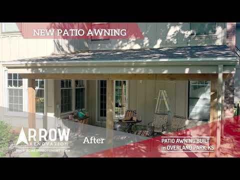 Patio Awning Built in Overland Park, KS