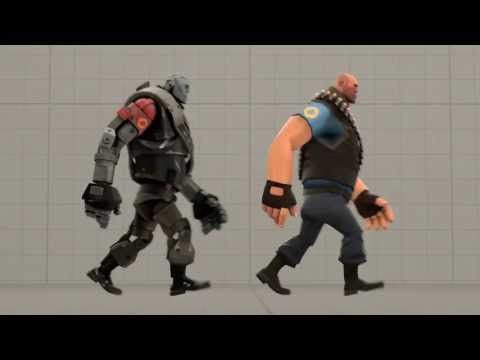 heavy man walk cycle animation by hypo