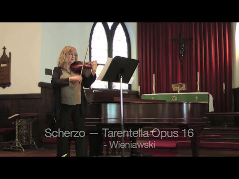 Stephanie performs virtuoso piece, Weiniawski Scherzo.