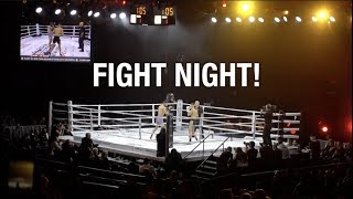 BACKSTAGE AT A FIGHT