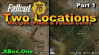 Fallout 76 Two Locations Recipes, Plans & Fusion cores Part 1