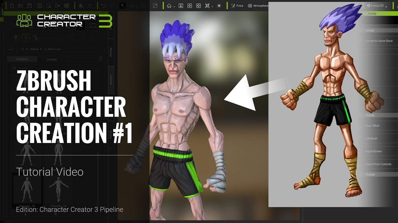 ZBrush Character Creation - Shape Design
