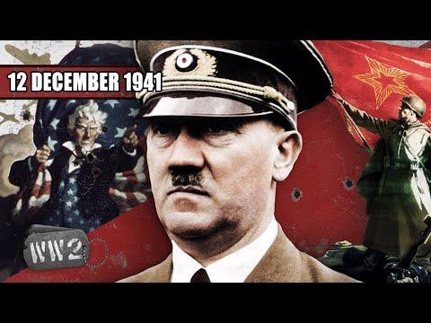Hitler vyhlašuje válku USA a Židům - Druhá světová válka
