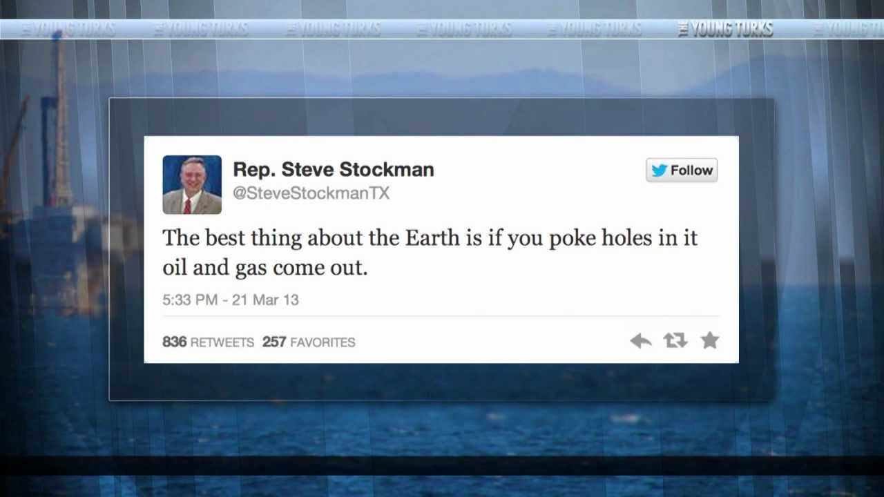 GOP Rep's Hilariously Wrong Pro-Oil, Anti-Liberal Tweets thumbnail