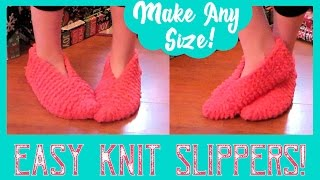 Easy Knitted Slippers For Beginners! Fast & FUN!