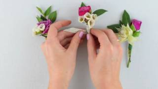 EASY DIY Boutonniere By Flower Moxie  ~SUPER FAST TUTORIAL~