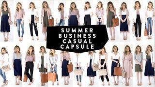 10 Pieces = 25 Looks | 2017 Summer Business Casual Wardrobe Minimalist |  Miss Louie