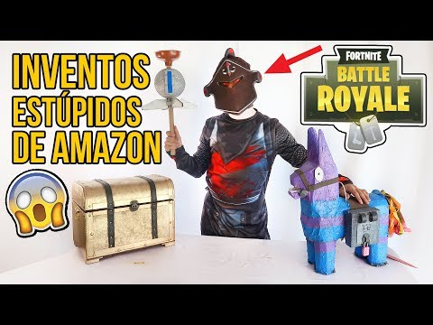 3 Inventos MUY ESTÚPIDOS de AMAZON - DISFRACES DE FORTNITE