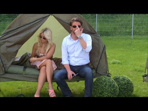 Im Schlafsack mit Katie Steiner - 4in1-Zelt inkl. Schlafsack, Matratze & Campingliege bei PEARL TV