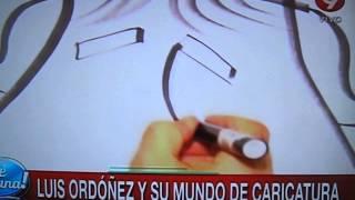 caricaturas en vivo Luis Ordoñez en el programa La mañanna