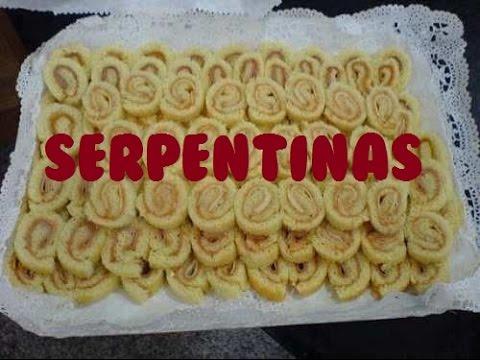 Enrrollado de pan o serpentinas pasapalo o botana para fiesta