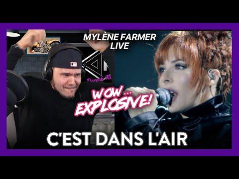 Mylène Farmer Reaction C'est dans l'air LIVE (EXPLOSIVE DANCE!) | Dereck Reacts