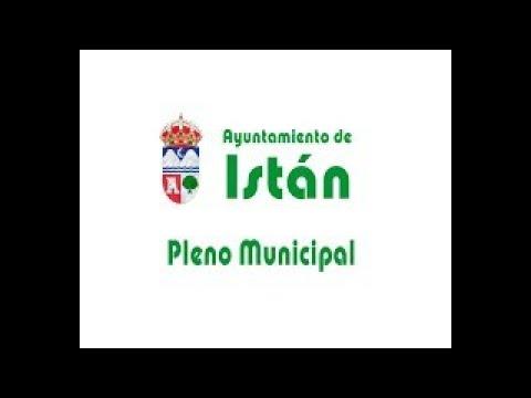 Pleno Ayuntamiento de Istán - Agosto 2021