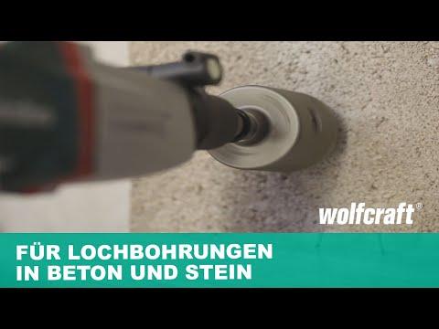 Hohlbohrkrone: Für Lochbohrungen in Beton und Stein | wolfcraft