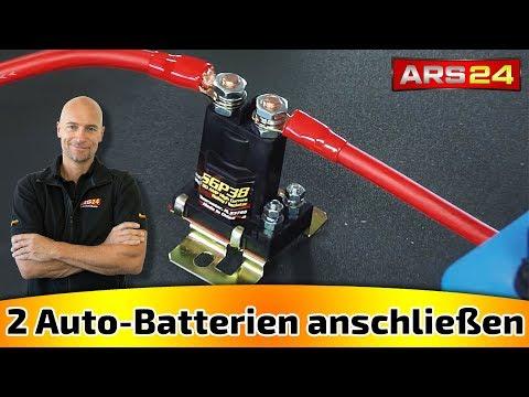 Zwei Batterien im Auto mit Trennrelais verbinden | Tutorial | ARS24
