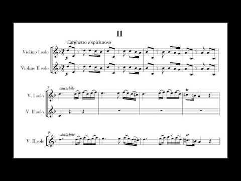 Vivaldi, Antonio L. (1678-1741) violin concerto for 2 violins in A minor opus 3 no. 8, RV 522