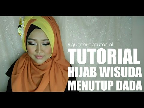 Video Tutorial Hijab Wisuda Menutup Dada #6 | Gurit Mustika