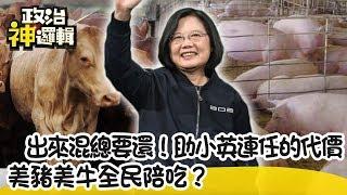 【政治神邏輯】出來混總要還!助小英連任的代價 美豬美牛全民陪吃?