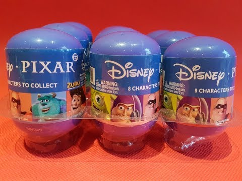 Disney Pixar Surprise Capsules The Incredibles Cars Toy Story Monsters Inc.