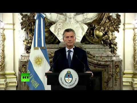 EN VIVO: Macri anuncia cambios en el gabinete y nuevas medidas frente a crisis económica argentina