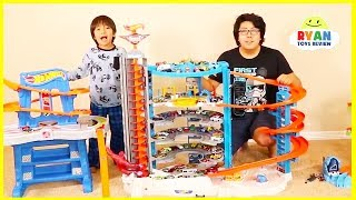 Ryan's Biggest Hot Wheels Collection Playset and Super Ultimate Garage Cars!!!