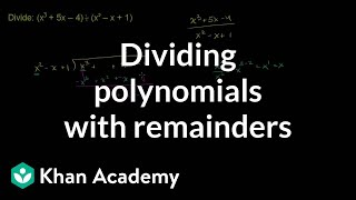 Dividing polynomials with remainders