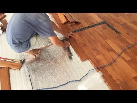Kho Tư liệu Xây dựng - Thi công lắp đặt sàn gỗ tự nhiên