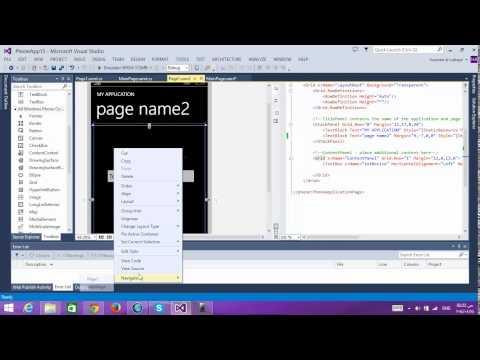 Tuition Windows phone 8 #10 #   pass parameter between page    تمرير البرامترات بين الصفحات