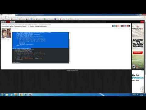 Python Programming Tutorial – 27 – How to Build a Web Crawler (3/3)