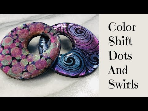 Color Shifting Magic Creating Dots and Swirls Jewelry Pendants and Cabochons Polymer Clay Tutorial
