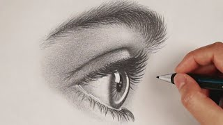 How To Draw An Eye From The Side | #StayHome And Draw #WithMe