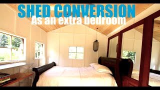 This Shed Kit Became An Off Grid Extra Cottage Bedroom