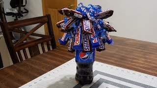 #candybouquet #sodaboquet  DIY Candy Soda Bouquet / Birthday Or Graduation Gift