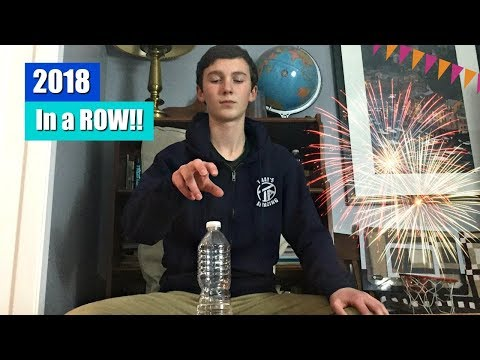 2018 Water Bottle Flips in a Row LIVE (We Did It!) | That's Amazing