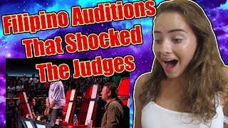 FILIPINO AUDITIONS THAT SHOCKED THE JUDGES! REACTION!