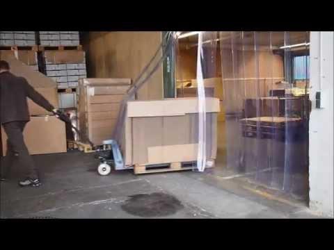 PVC-Streifenvorhang / PVC-Lamellenvorhang Anwendungsvideo