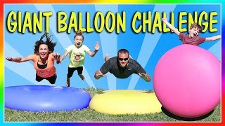 ULTIMATELY SATISFYING 7FT GIANT WATER BALLOON CHALLENGE | SLOW MOTION | We Are The Davises