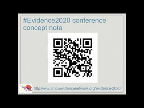 Africa Evidence Webinar #5: Evidence 2020 enabling engagement & fostering collaboration