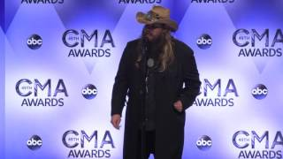 Chris Stapleton Backstage At The CMA Awards // Country Outfitter