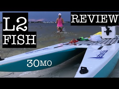 FULL REVIEW –  L2FISH PADDLE BOARD – tips with ty