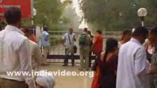 Wagah border or the Indo-Pak border