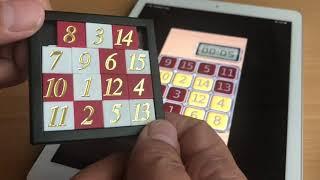 Zahlenschiebe Rätsel / 15er Puzzle / Schiebefax / Fünfzehnerspiel – Einfache Lösung in Deutsch