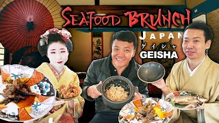JAPANESE SEAFOOD BRUNCH With GEISHA & MAIKO! RIVER CRAB Hotpot On River Boat
