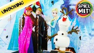 Disney Frozen DIE EISKÖNIGIN ADVENTSKALENDER   Wir öffnen ALLE 24 TÜRCHEN mit euch!