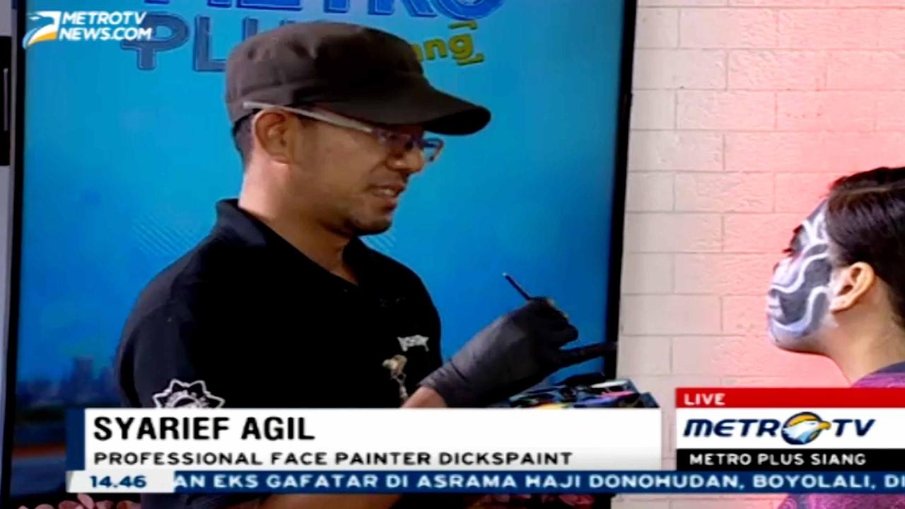 Shooting Face Painting Metro-TV Jakarta